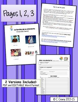 Avancemos 1 Unit 3 Lesson 2 Student Handouts & Notes - La familia