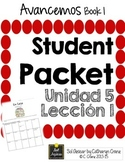 Avancemos 1 Unit 5 Lesson 1 Student Handouts & Notes - La casa