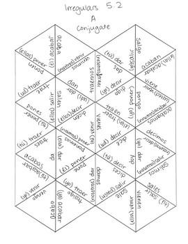 Avancemos 1 U5L2 Irregular Verb Puzzles