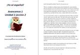 Avancemos 1 Unidad 1 Lección 2 Lessons/Notes/Study Guides