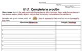 Avancemos 1 Unidad 1 Leccion 1 Complete the Sentence Vocab