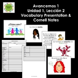Avancemos 1, Unit 1, Lesson 2 Vocabulary Presentation