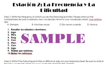 Avancemos 1: Unidad 2.1 Time, Numbers and Phrase Practice (Stations)