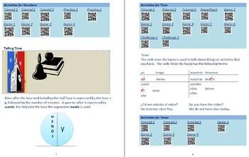 Avancemos 1  Unidad 2 Lección 1 Lessons/Notes/Study Guides