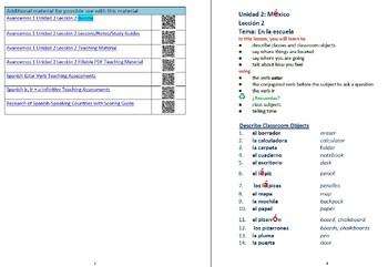 avancemos 1 unidad 2 lecci n 2 lessons notes study guides by royaltis rh teacherspayteachers com Avancemos 4 Avancemos 1 Worksheets