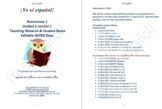 Avancemos 1 Unidad 2 Lección 1 Teaching Material & Student Notes Editable WORD