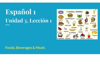 Avancemos 1:  Unidad 3, Lección 1 - Vocabulary Slideshow (extended)