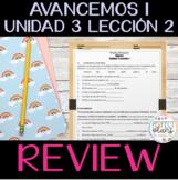 Avancemos 1 Unidad 3 Leccion 2 - Review