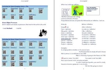Avancemos 1  Unidad 4 Lección 1 Lessons/Notes/Study Guides