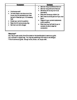 Avancemos 1 Unidad 5 Lección 2 Chores/acabar de +inf. practice/ Speak Activity