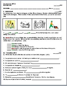 Avancemos 1 Unidad 5 Lección 2 Vocabulary Quiz