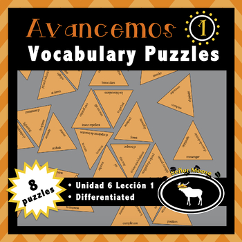 Avancemos 1 Spanish Vocabulary Puzzles (Unidad 6 Lección 1)