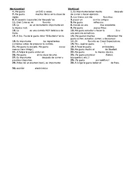 Avancemos 1, Unit 1 Lesson 1 (1-1) Crossword Puzzle