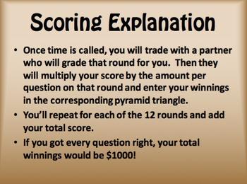 Avancemos 1 Unit 1 Lesson 1 $1000 Pyramid Game