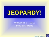 Avancemos 1 - Unit 1, Lesson 1 - Jeopardy Review Game