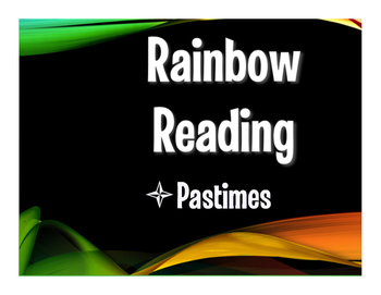 Avancemos 1 Unit 1 Lesson 1 Rainbow Reading