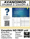Avancemos 1 Unit 1 Lesson 2 Mega Bundle