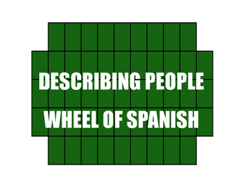 Avancemos 1 Unit 1 Lesson 2 Wheel of Spanish