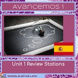 Avancemos 1 Unit 1 Review Stations