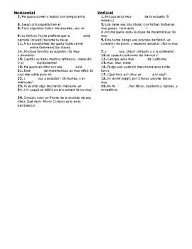 Avancemos 1, Unit 2 Lesson 2 (2-2) Crossword Puzzle
