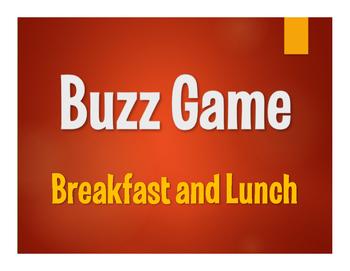Avancemos 1 Unit 3 Lesson 1 Buzz Game