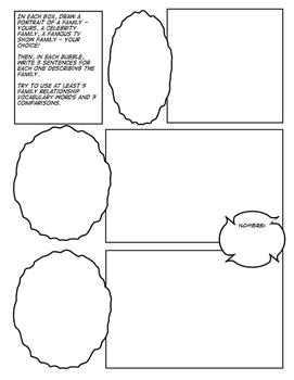 Avancemos 1 Unit 3 Lesson 2 Comic Strip