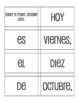 Spanish Dates Sentence Mixer