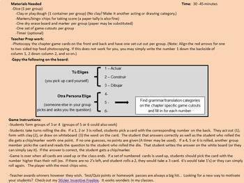 Avancemos 1: Unit 3 Lesson 2 - Fun Review Game - Cranium Style