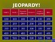 Avancemos 1 - Unit 3, Lesson 2- Jeopardy Review Game