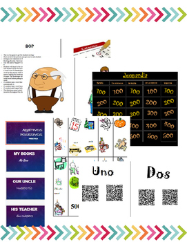 Avancemos 1 Unit 3 Lesson 2 Mega Bundle