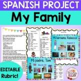 Spanish My Family Project | Spanish Mi Familia Proyecto