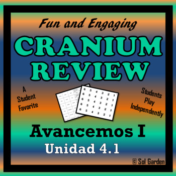 Avancemos 1: Unit 4 Lesson 1 - Fun Review Game - Cranium Style