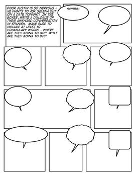 Avancemos 1 Unit 4 Lesson 2 Comic Strip