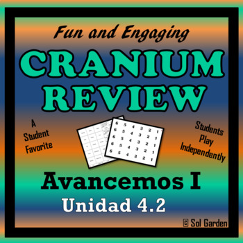 Avancemos 1 Unit 4 Lesson 2 - Fun Review Game - Cranium Style