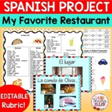 Spanish My Favorite Restaurant Project | Spanish 1 Food Co