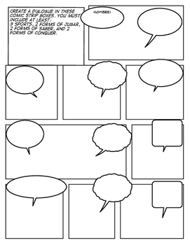 Avancemos 1 Unit 6 Lesson 1 Comic Strip