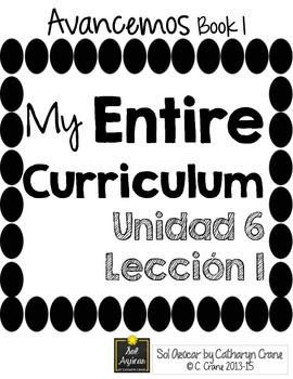 Avancemos 1 Unit 6 Lesson 1 ENTIRE Chapter Curriculum