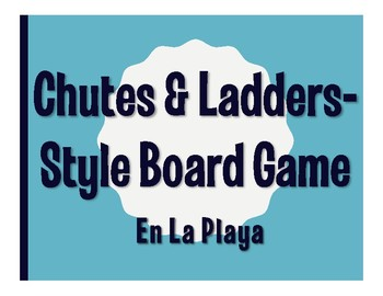 Avancemos 1 Unit 6 Lesson 2 Chutes and Ladders-Style Game