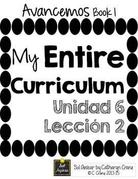 Avancemos 1 Unit 6 Lesson 2 ENTIRE Chapter Curriculum
