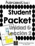 Avancemos 1 Unit 6 Lesson 2 - Student Handouts & Notes - Health