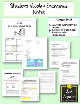 Avancemos 1 Unit 7 Lesson 2 ENTIRE Chapter Curriculum