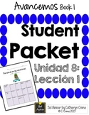 Avancemos 1 Unit 8 Lesson 1 - Student Handouts & Notes