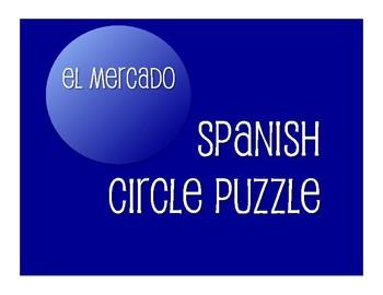 Avancemos 1 Unit 8 Lesson 2 Circle Puzzle