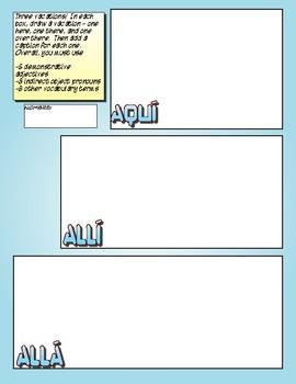 Avancemos 1 Unit 8 Lesson 2 Comic Strip