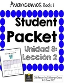 Avancemos 1 Unit 8 Lesson 2 - Student Handouts & Notes