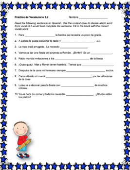 Spanish Avancemos 1 Vocabulary Activity Bundle