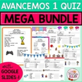 Avancemos 1 Vocab List & Quiz MEGA BUNDLE Print and Digita