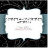Avancemos 1.1.2 Definite and Indefinite Articles