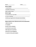 Avancemos 1.2 noun-adjective worksheet
