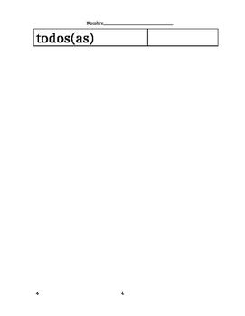 Avancemos 1A Unit 1 Lesson 2 Vocab List